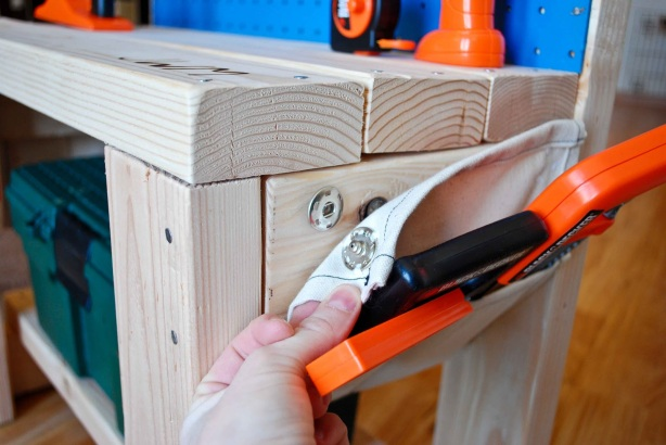 kids wooden workbench