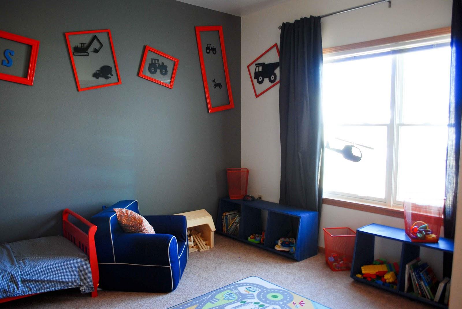 Toddler room diy mcbabybump - Curtains for boy toddler room ...